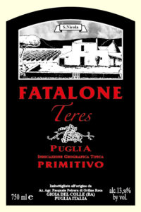 "Etichetta Puglia I.G.T. Primitivo ""Teres"" bio"